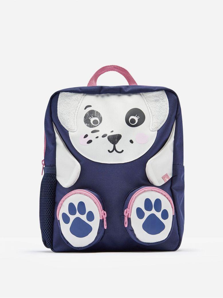 Joules Navy Dalmatian Zippyback Character Backpack
