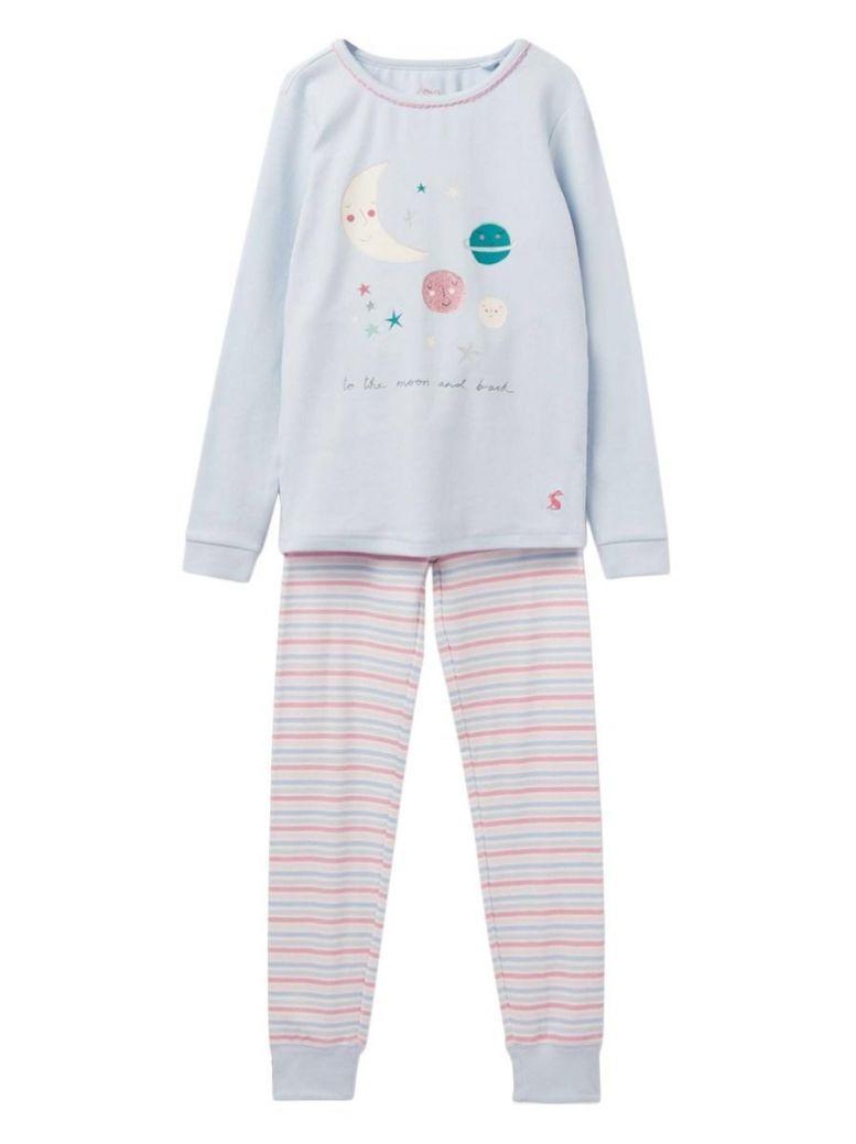 Joules Kids Blue Moon Sleepwell Pyjama Set