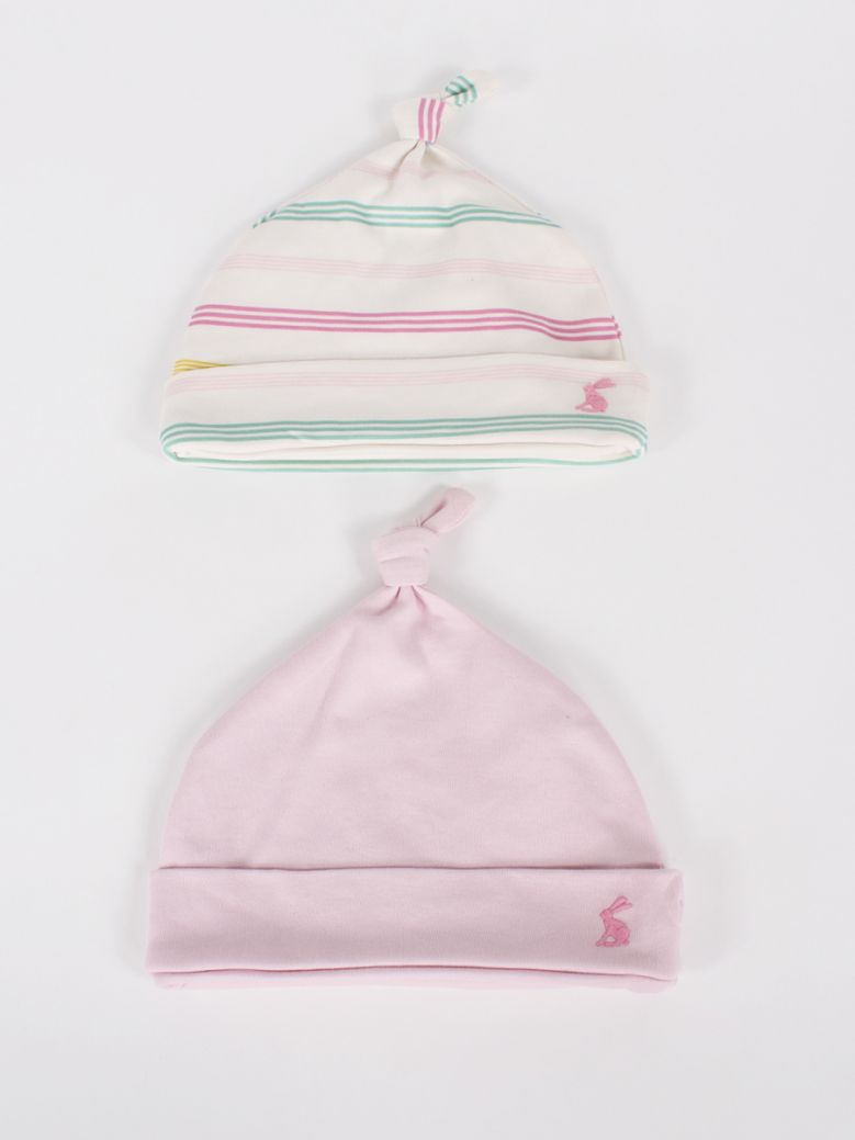 Joules Kids Soft Pink Koo 2 Pack Baby Hats