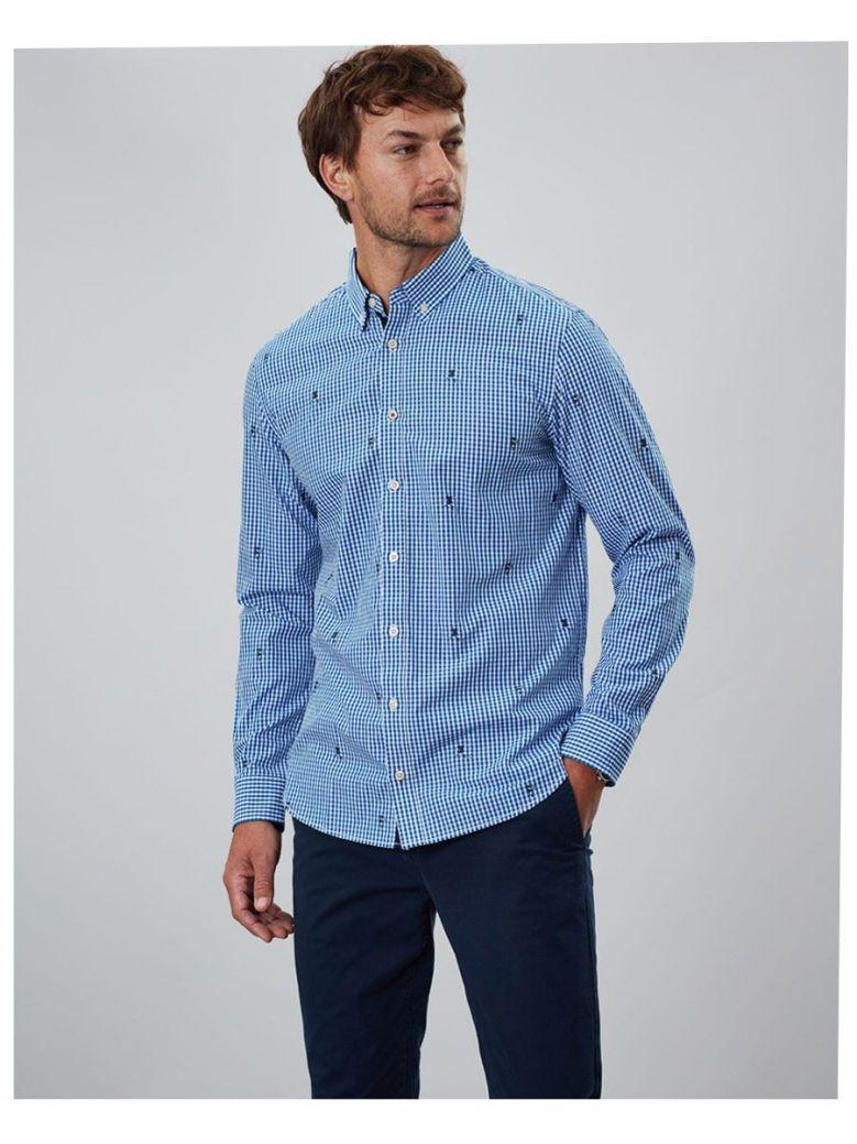 Joules Blue & White Coleridge Classic Check Shirt