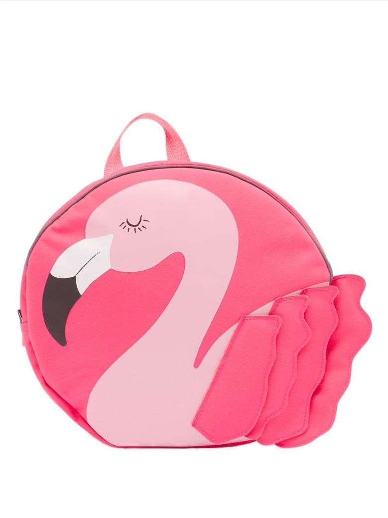 Joules Explore Pink Flamingo Novelty Backpack