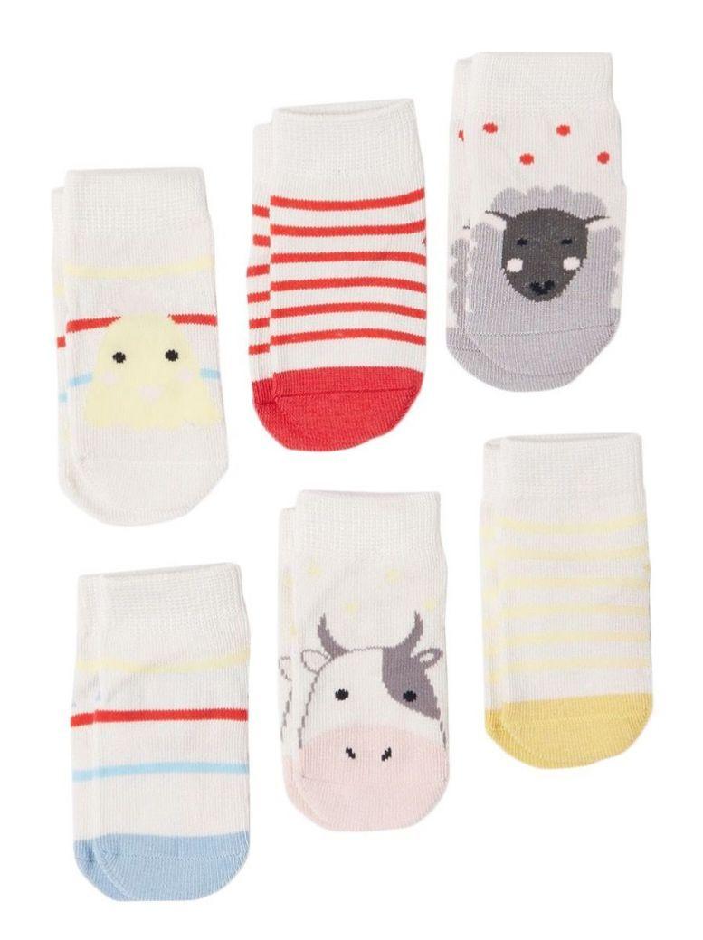 Joules Multi Animals Socks 6 Pack Set