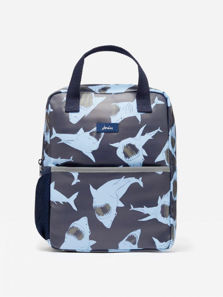 Joules Blue Shark Adventure Rubber Backpack