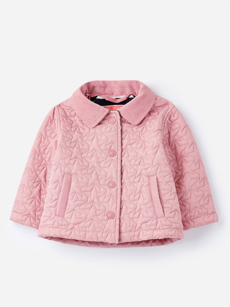 Joules Kids Just Blush Mabel Star Quilted Coat