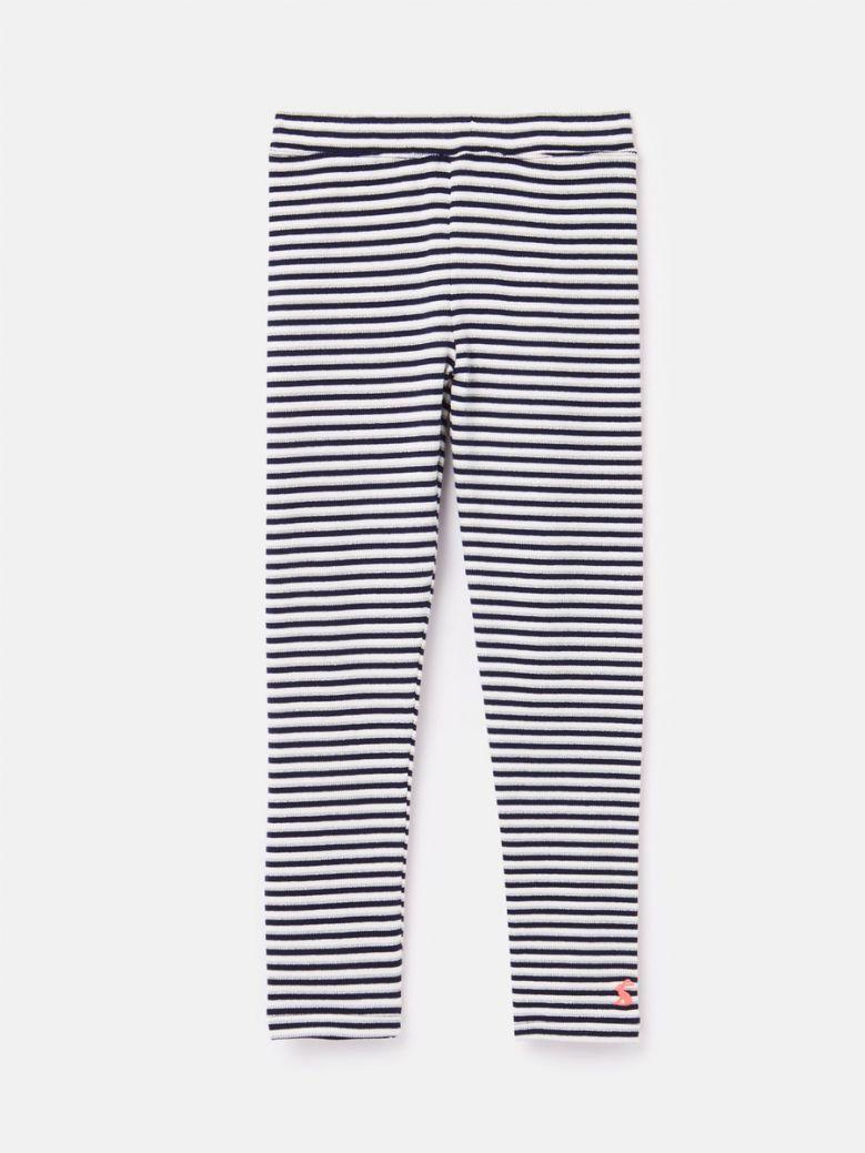 Joules Navy Stripe Annie Ribbed Leggings