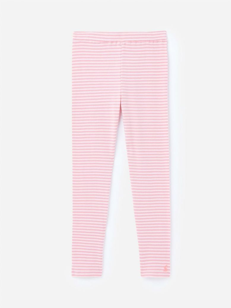 Joules Pink Stripe Annie Ribbed Leggings