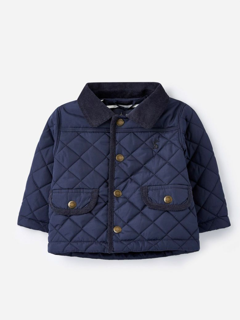 Joules Kids French Navy Milford Quilted Jacket