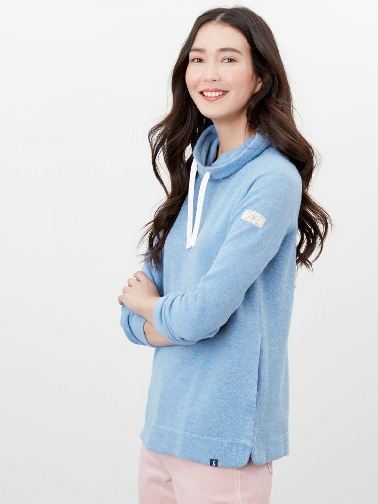 Joules Ladies Blue Marl Nadia Ribbed Sweatshirt