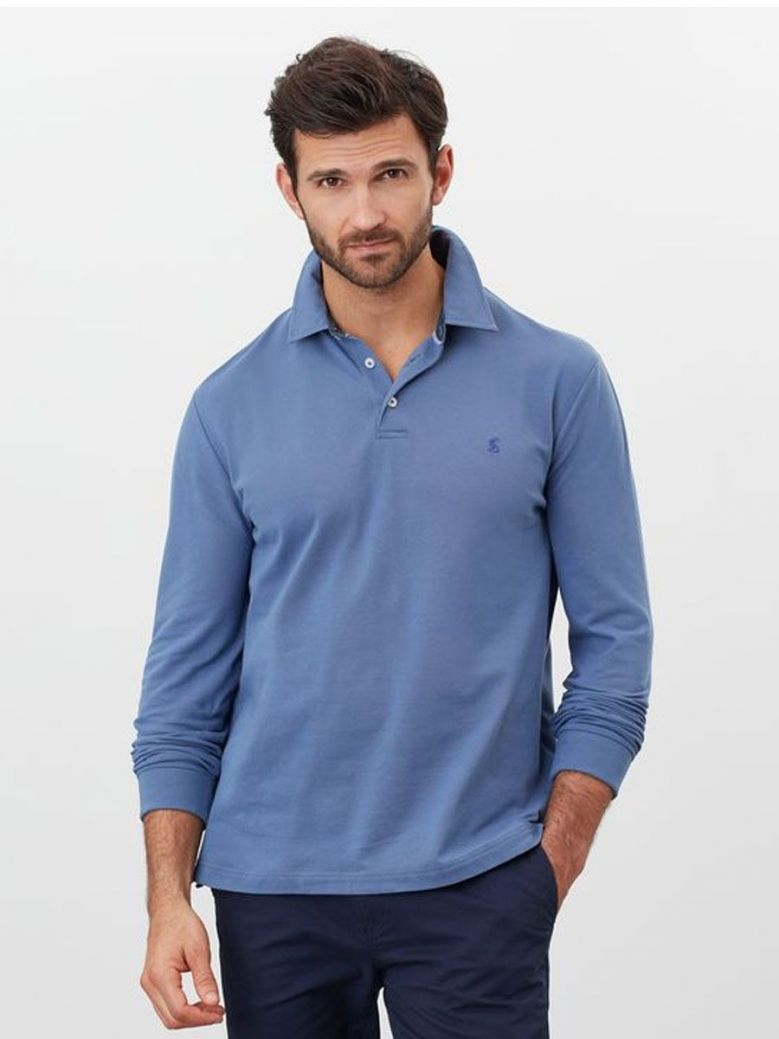Joules blue Long Sleeved Polo