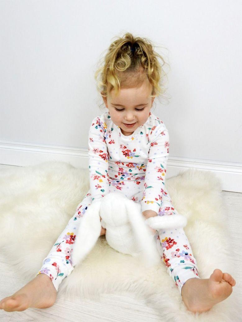 Joules White Ditsy Sleepwell Pyjama Set