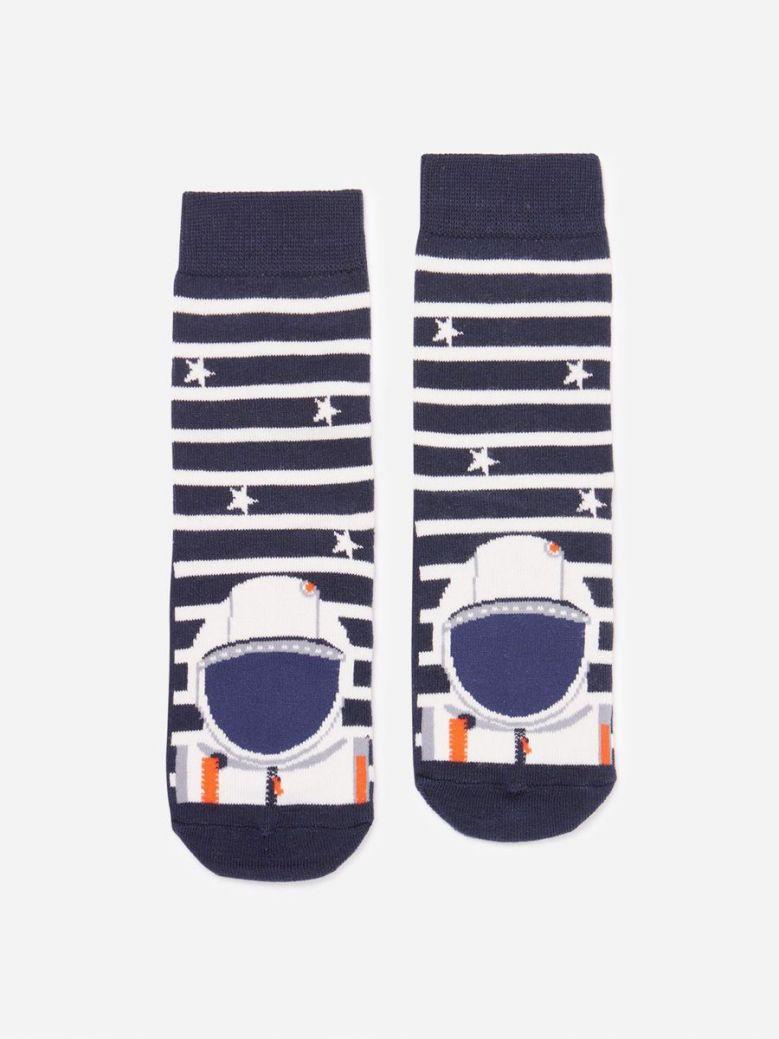 Joules Navy Astronaut Eat Feet Character Socks
