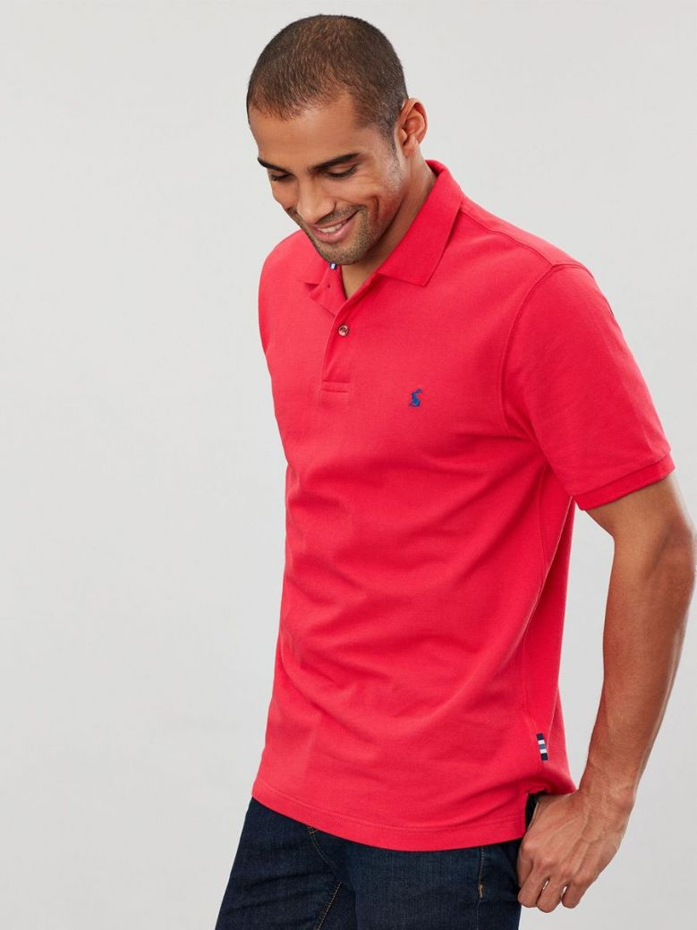 Joules Poppy Red Woody Classic Fit Polo Shirt