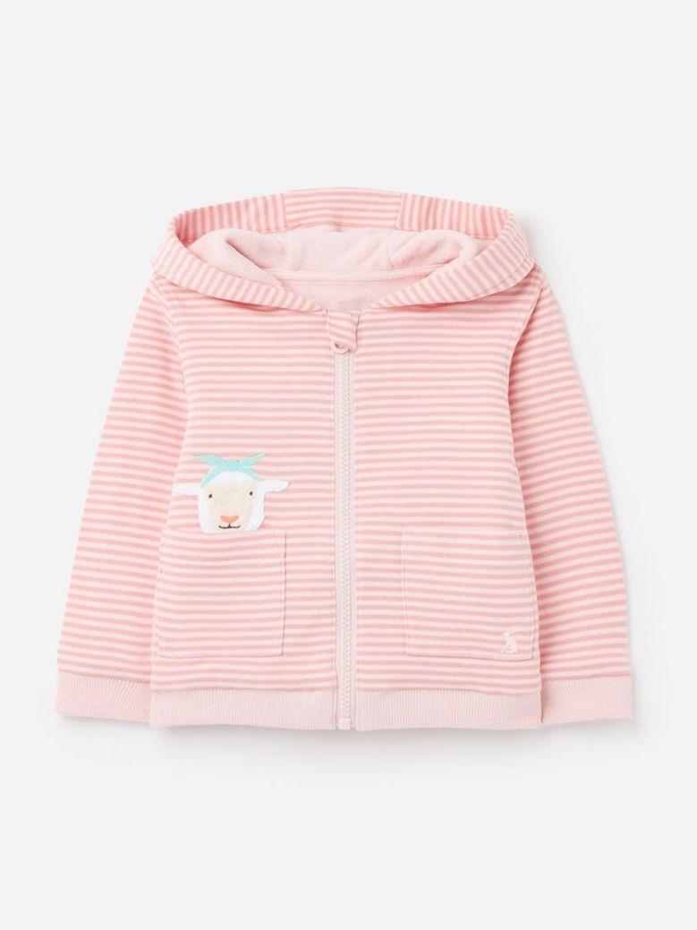 Joules Pink Sheep Tenley Character Zip Sweat Hoody