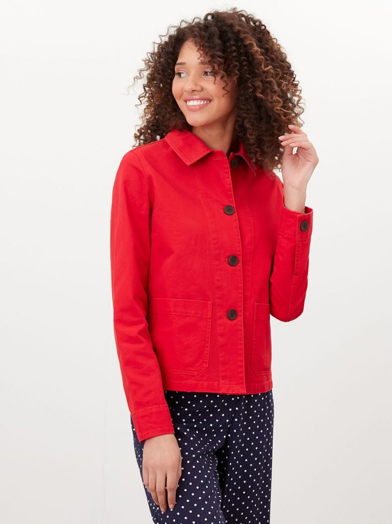Joules English Red Devon Coastal Jacket