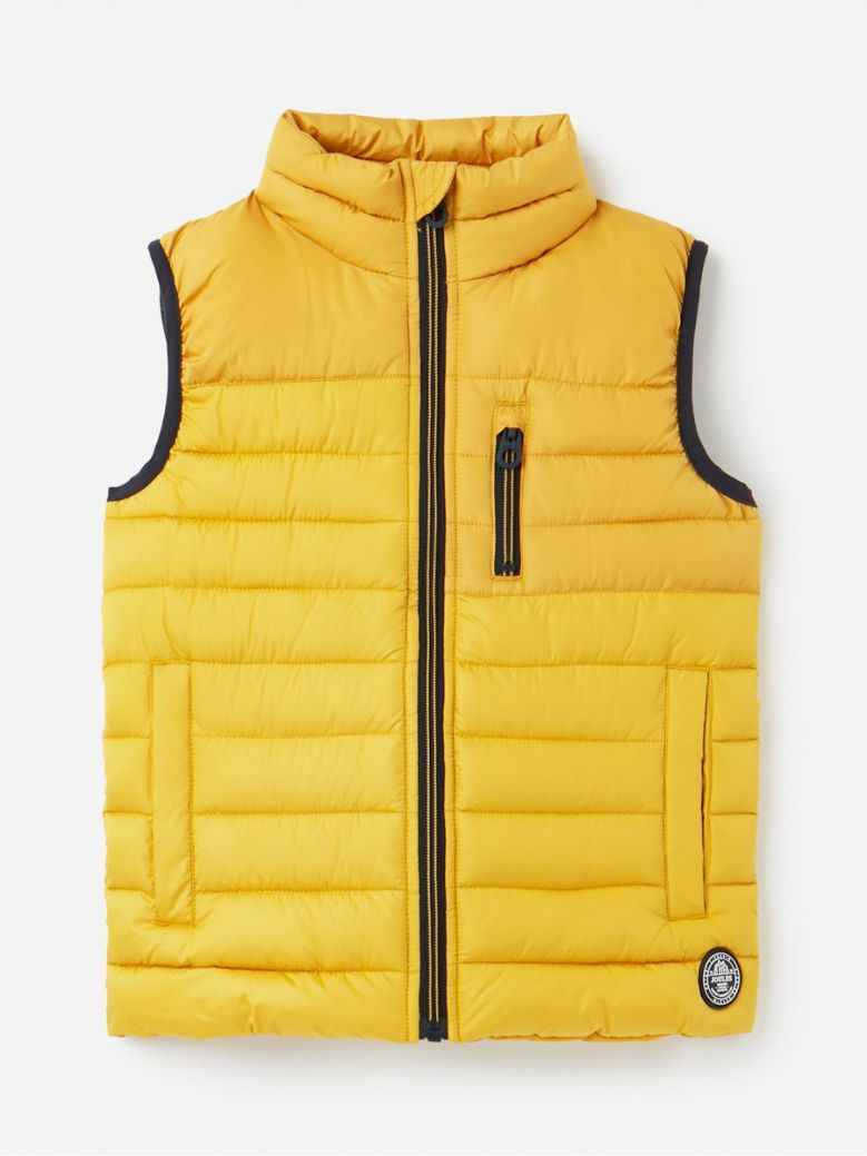 Joules Kids Antique Gold Rory Recycled Gilet