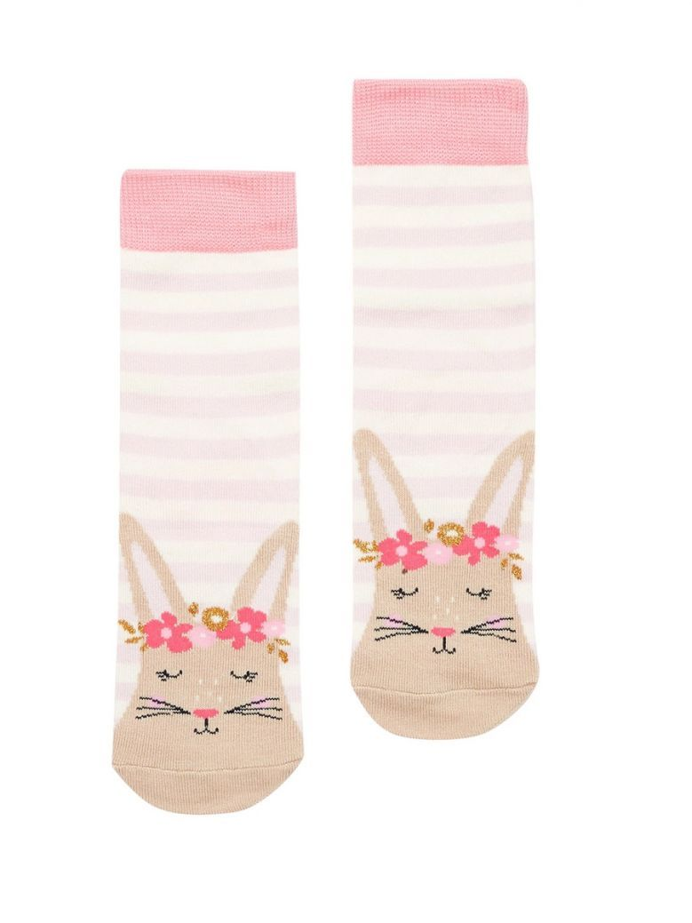 Joules Pink Bunny Neat Feet Socks