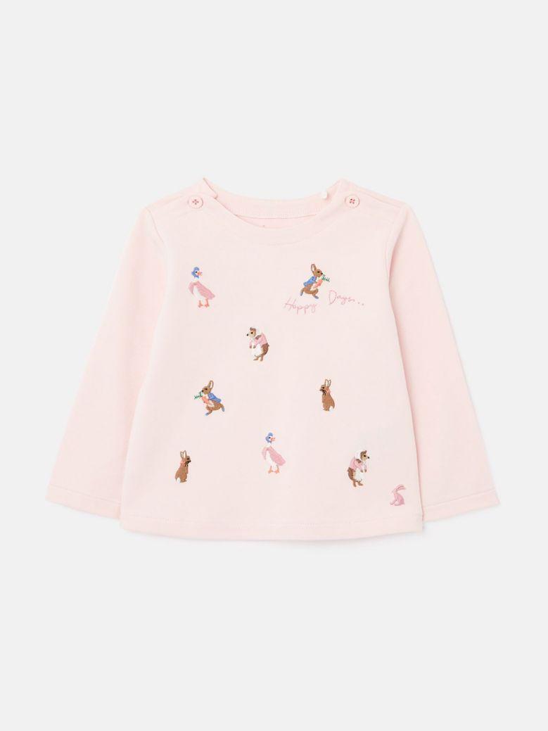 Joules Pink Peter Rabbit Harriet Artwork Top