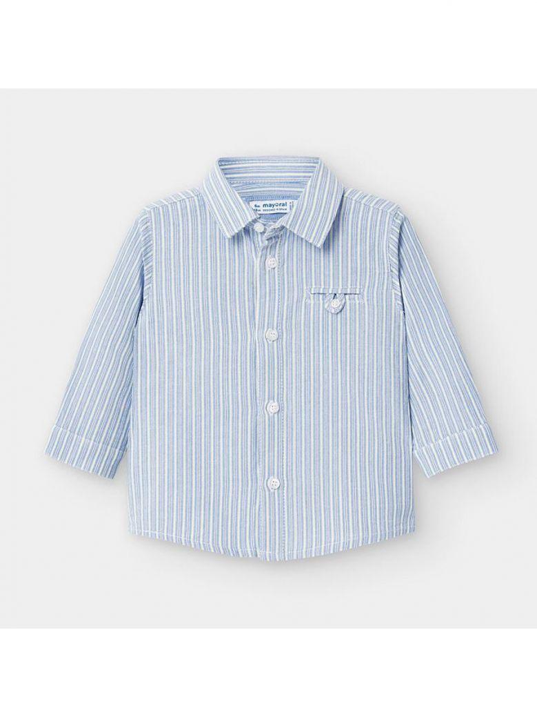 Mayoral Kids Aove Long Sleeved Vertical Stripes Shirt