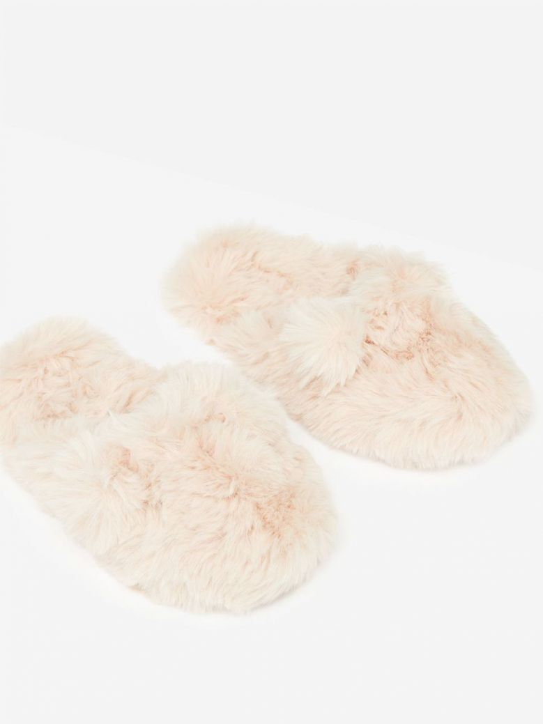 Joules Soft Pink Cosy Slip On Mule Slippers