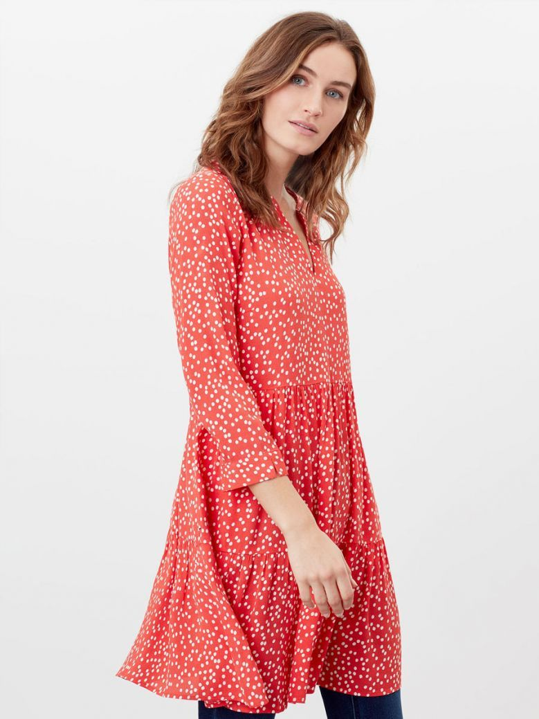 Joules Red Spot Cosima Tiered Tunic