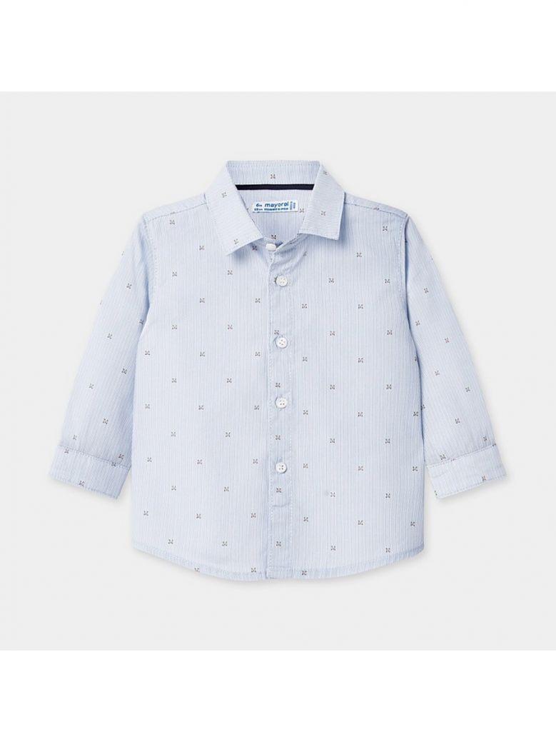 Mayoral Kids Letters Long Sleeved Patterned Shirt