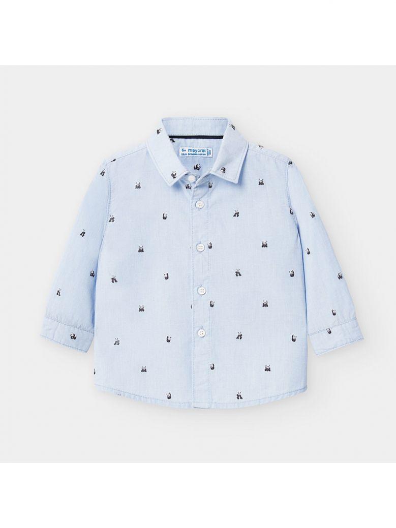 Mayoral Kids Pandas Long Sleeved Patterned Shirt
