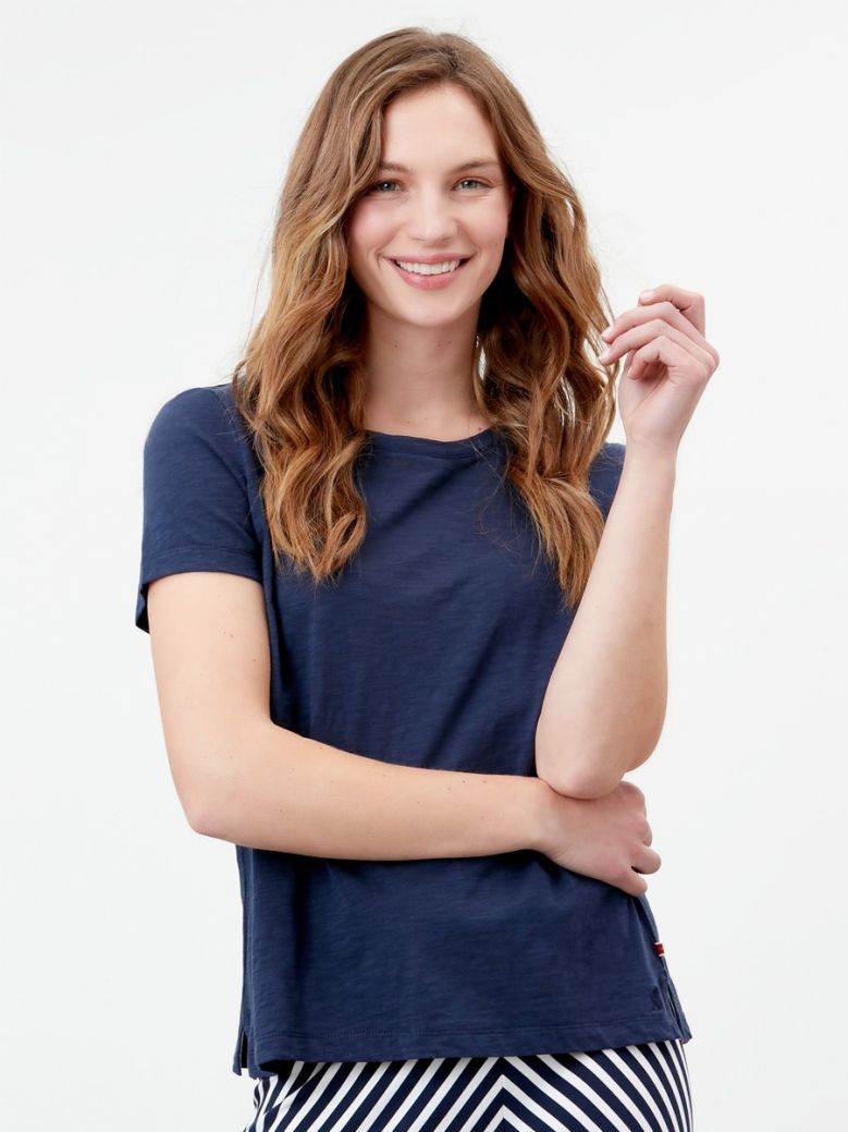 Joules Ladies French Navy Carley Classic Crew T-Shirt