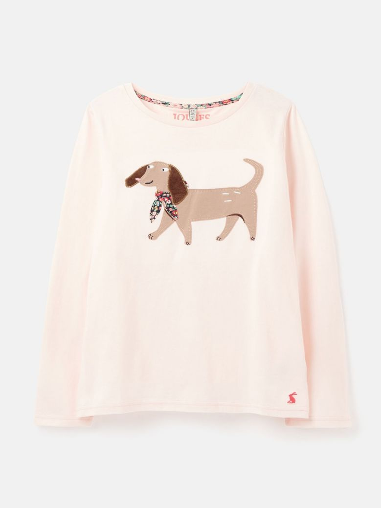 Joules Pink Dog Ava Artwork Top