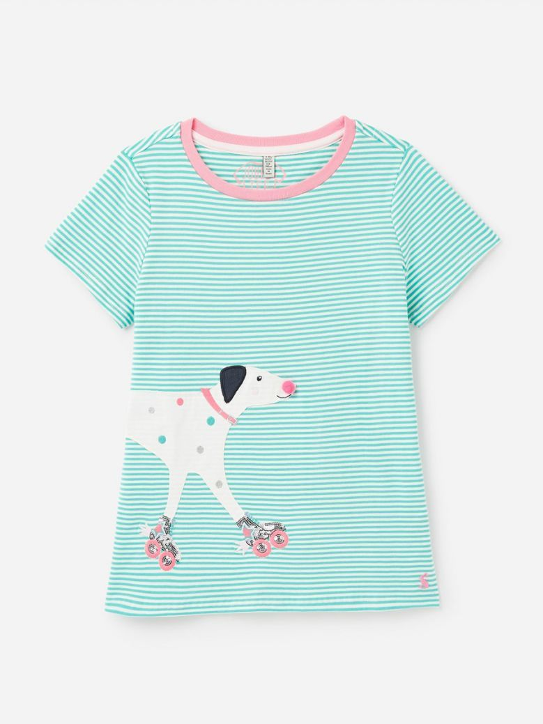 Joules Green Dog Astra Artwork Top