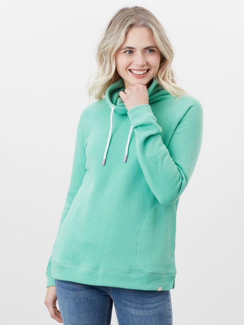Joules Ladies Fresh Green Nadia Ribbed Sweatshirt