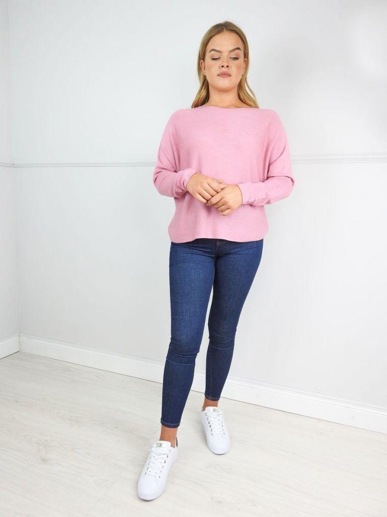 Erika W Pink Fine Knit Jumper