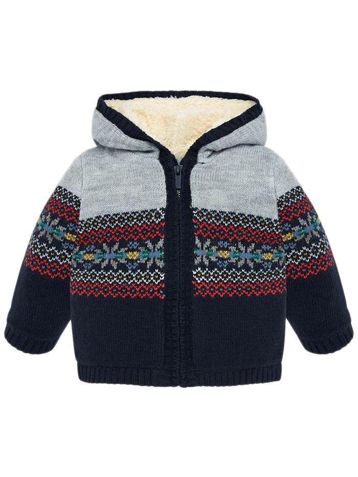 Mayoral Universe Hooded Knit Jacket