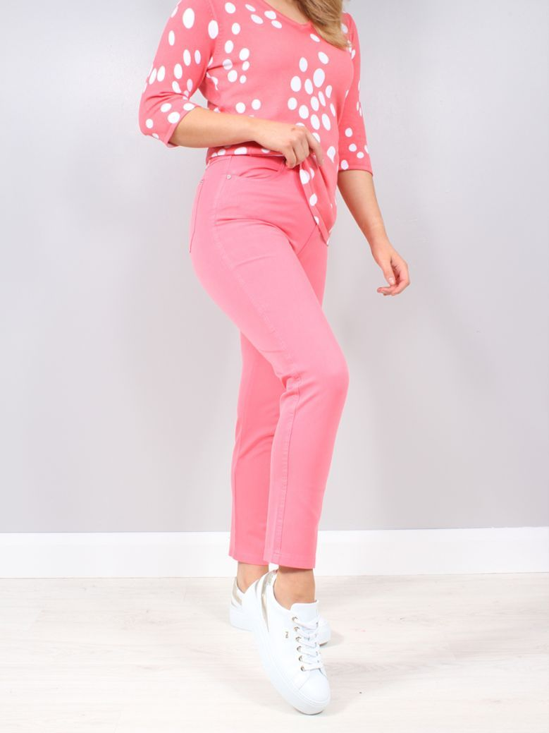 Marble Pink High Rise Stretch Jeans