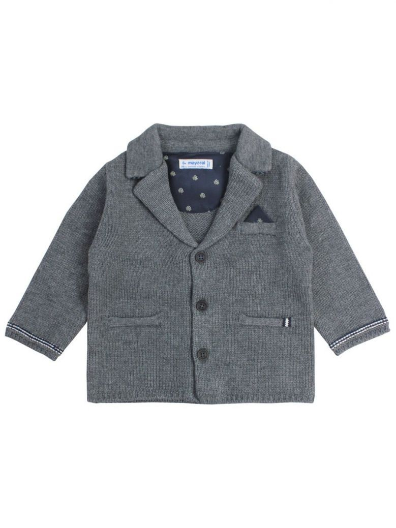 Mayoral Charcoal Grey Blazer Cardigan