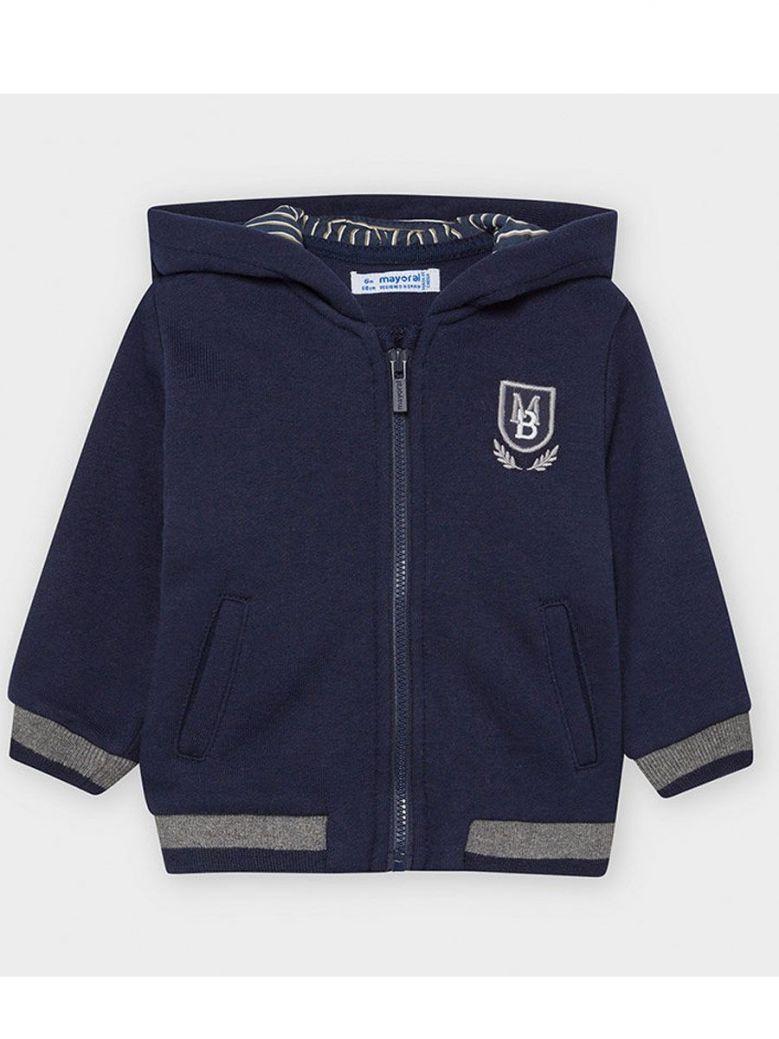 Mayoral Navy Full Zip Hooded Top
