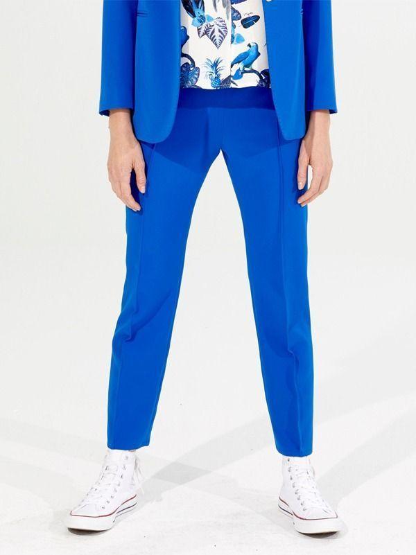 Vilagallo Blue Drawstring Waist Trousers