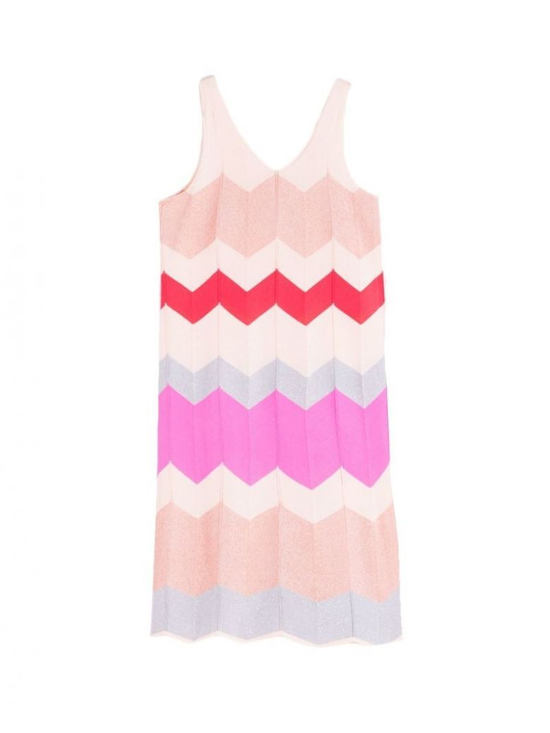 Vilagallo Pink Multi Printed Dress
