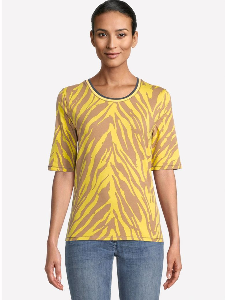 Betty Barclay Print Shirt with Ribbed Cuffs