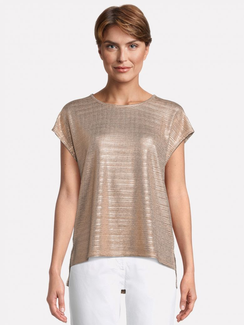 Betty Barclay Rose Gold Casual Shirt with Shimmer Effect