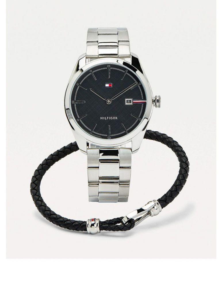 Tommy Hilfiger Silver Watch and  Bracelet set