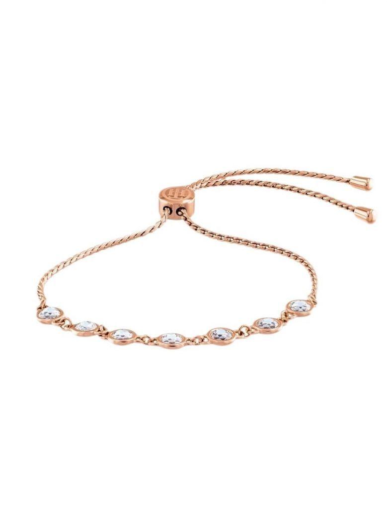 Tommy Hilfiger Rose Gold Plated Embellished Bracelet