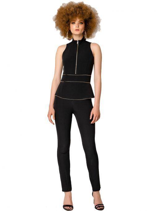 Access Fashion Black Sleeveless Jumpsuit