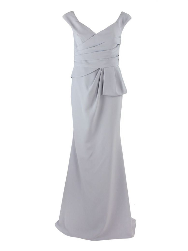 Invitations by Veni for Ronald Joyce Fishtail Dress, Silver, Style 29343