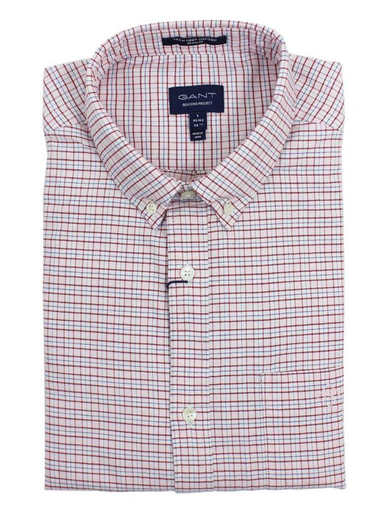 Gant Raspberry Red Oxford Check Shirt