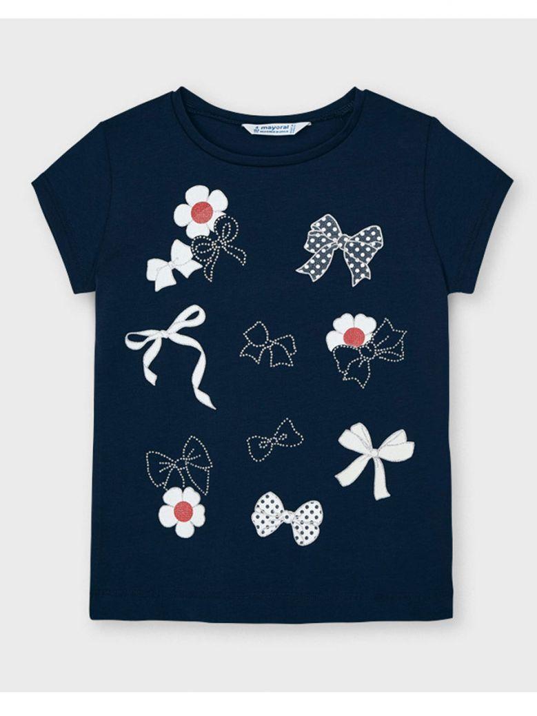 Mayoral Navy S/S Print T-Shirt