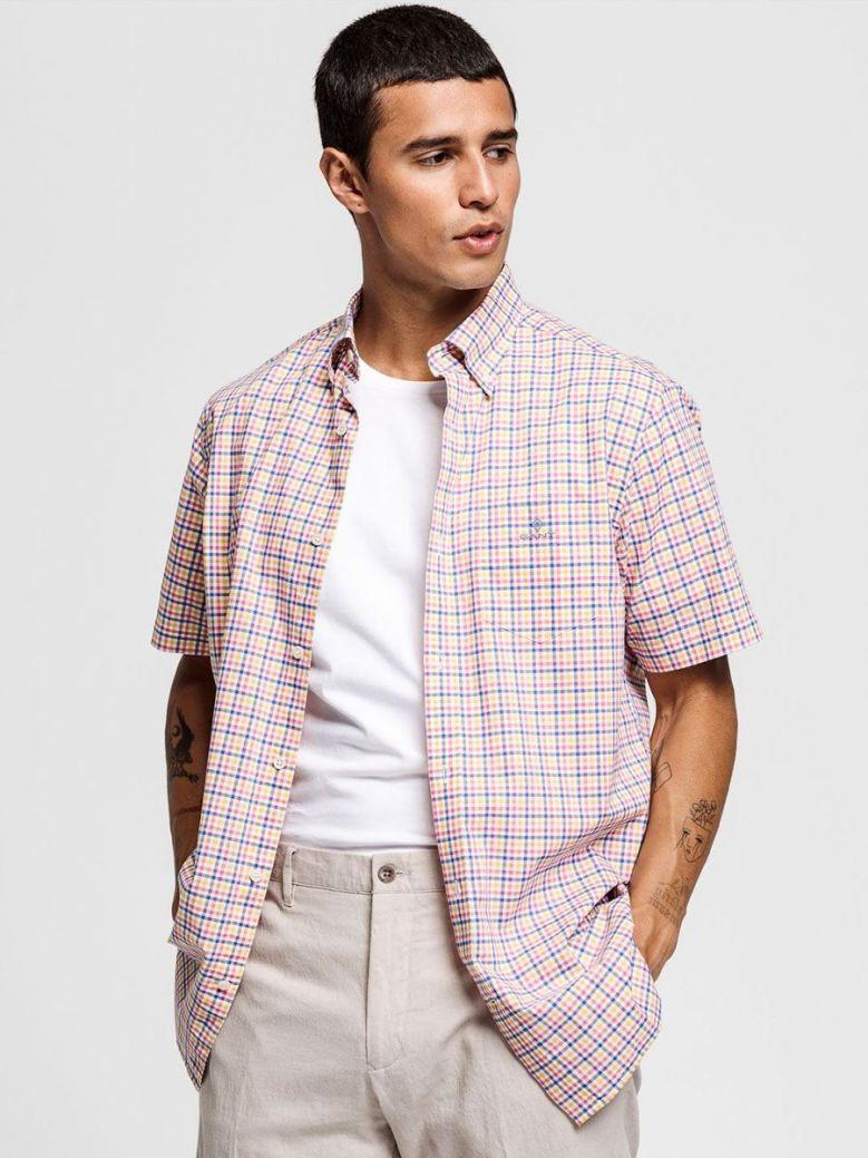 Gant Rapture Rose Regular Fit Short Sleeve 3-Colour Gingham Shirt