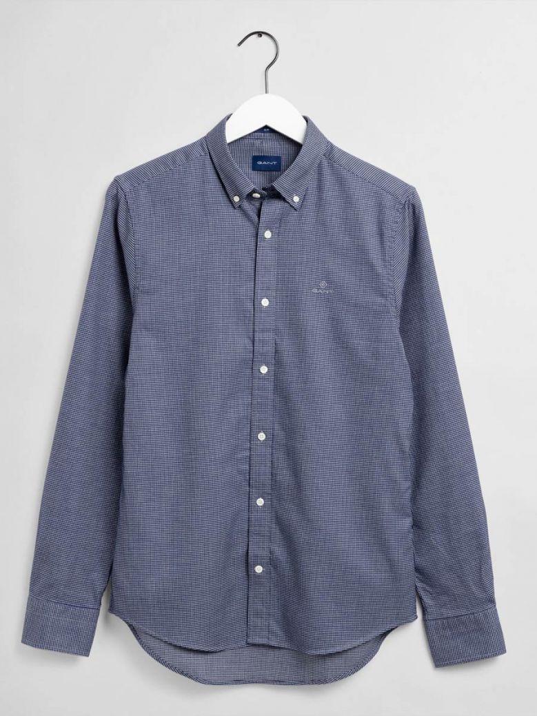 Gant Capri Blue Melange Dobby Regular Fit Shirt