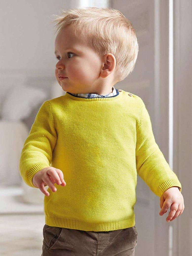 Mayoral Yellow Crew Neck Sweater