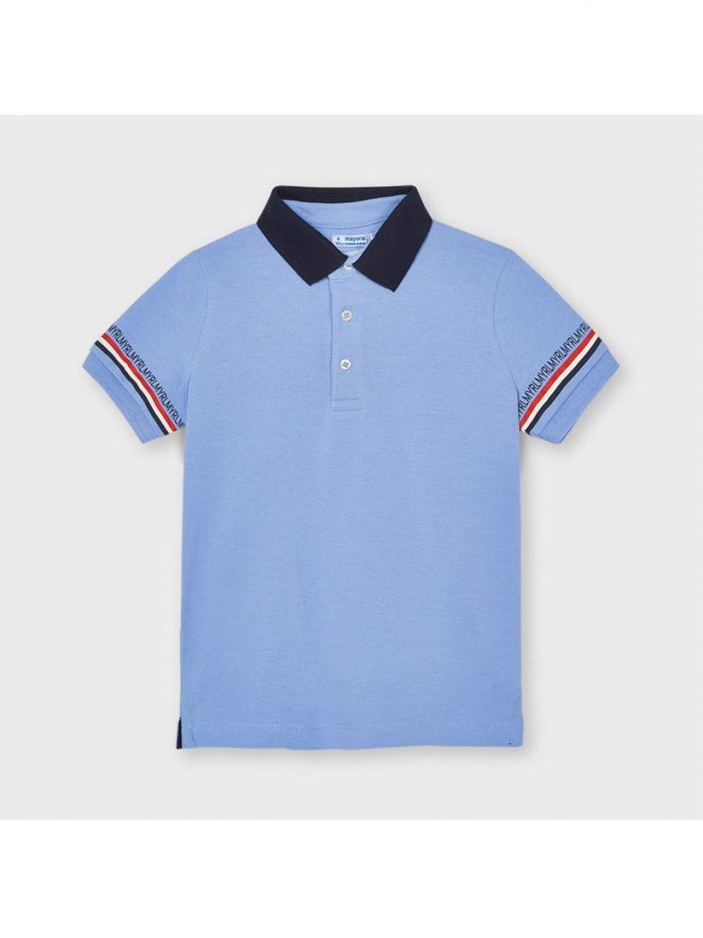 Mayoral Lavender Short Sleeved Semi Basic Polo