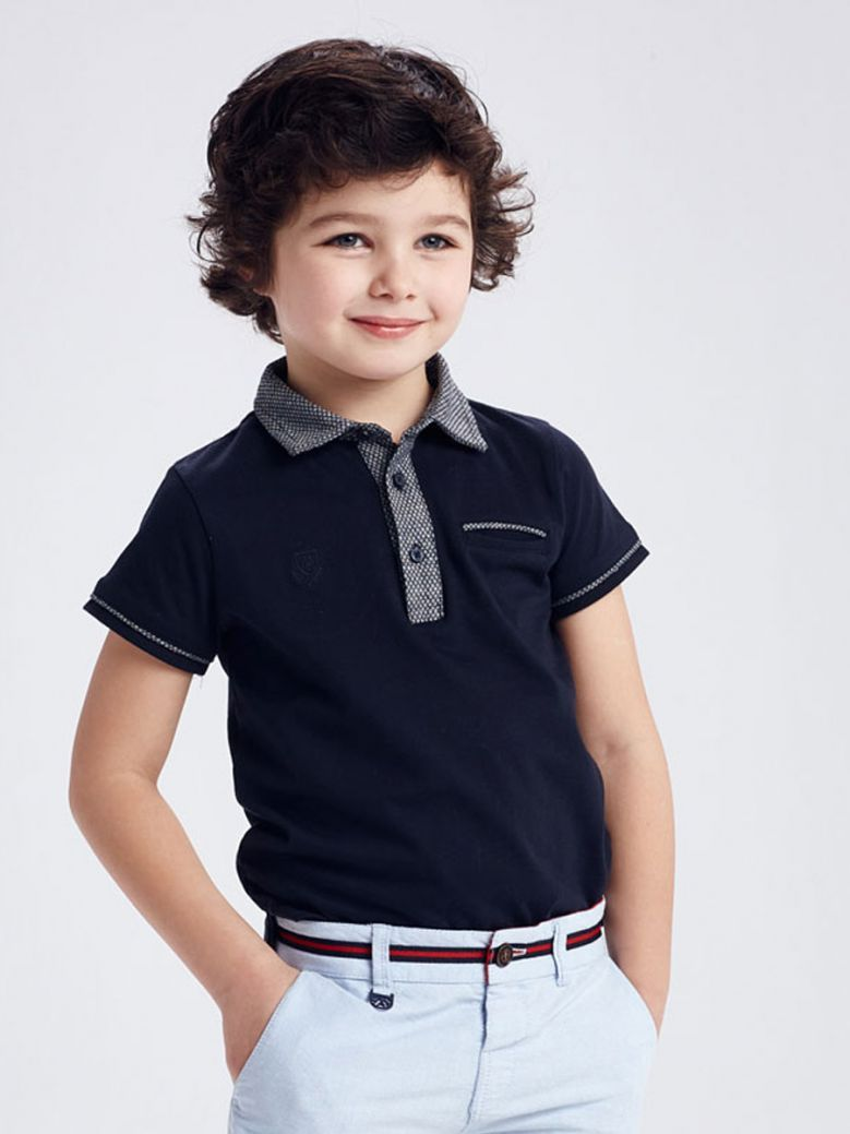 Mayoral Navy Tailored Polo